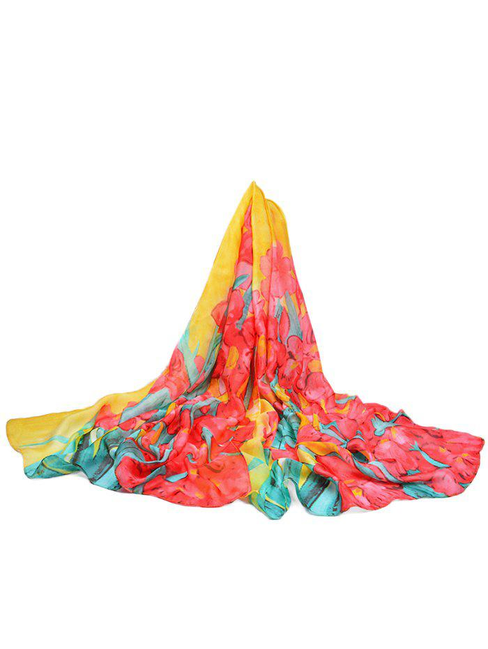 Latest Lightweight Floral Printed Silky Fall Spring Scarf
