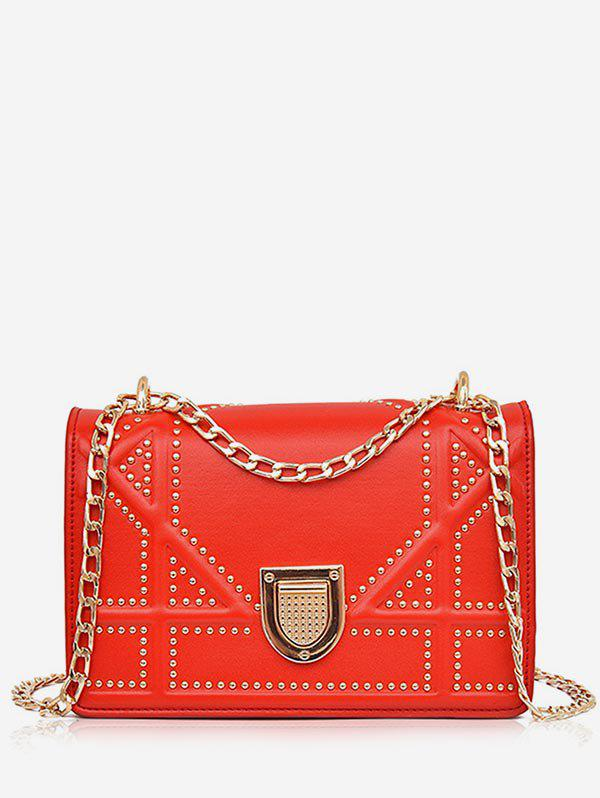 Shops Chain Studded Chic Shopping Crossbody Bag
