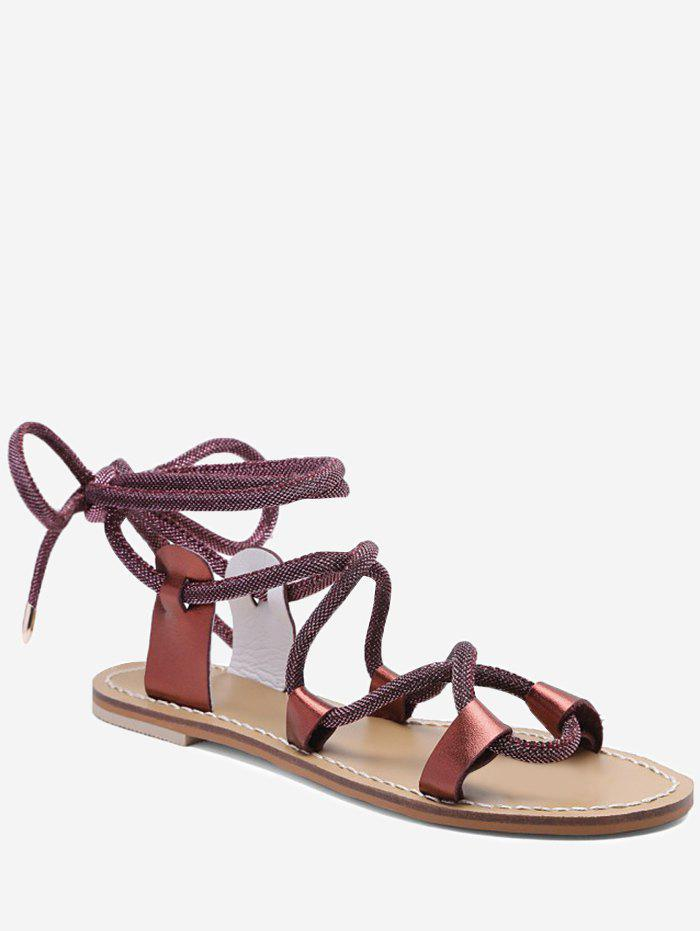 Fancy Lace Up Ankle Wraped Sandals