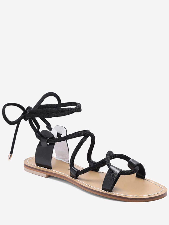 Discount Lace Up Ankle Wraped Sandals