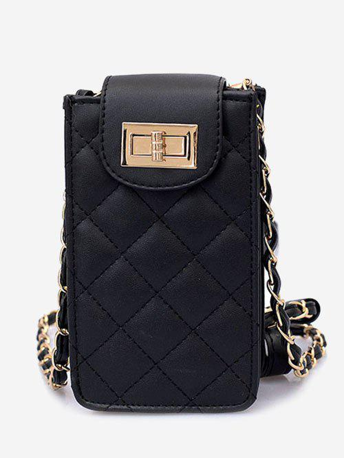 Sale Twist Lock Quilted Chic Sling Crossbody Bag