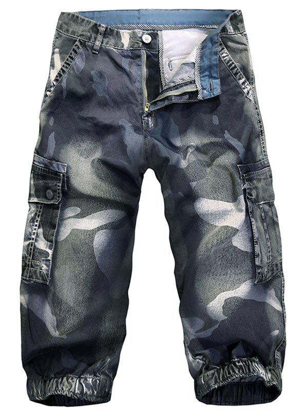 Discount Pockets Camo Pattern Cargo Shorts