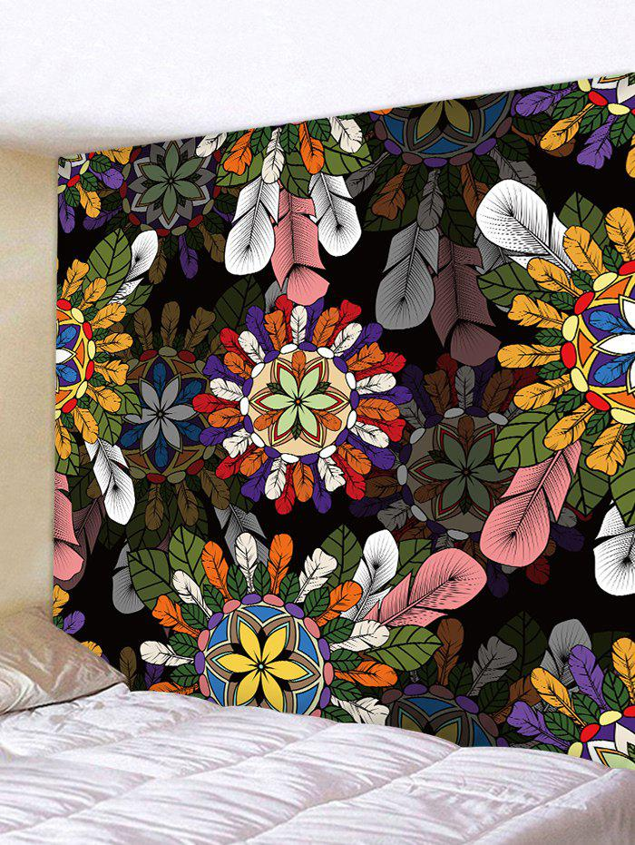 Outfit Wall Hanging Art Feathers Mandala Print Tapestry