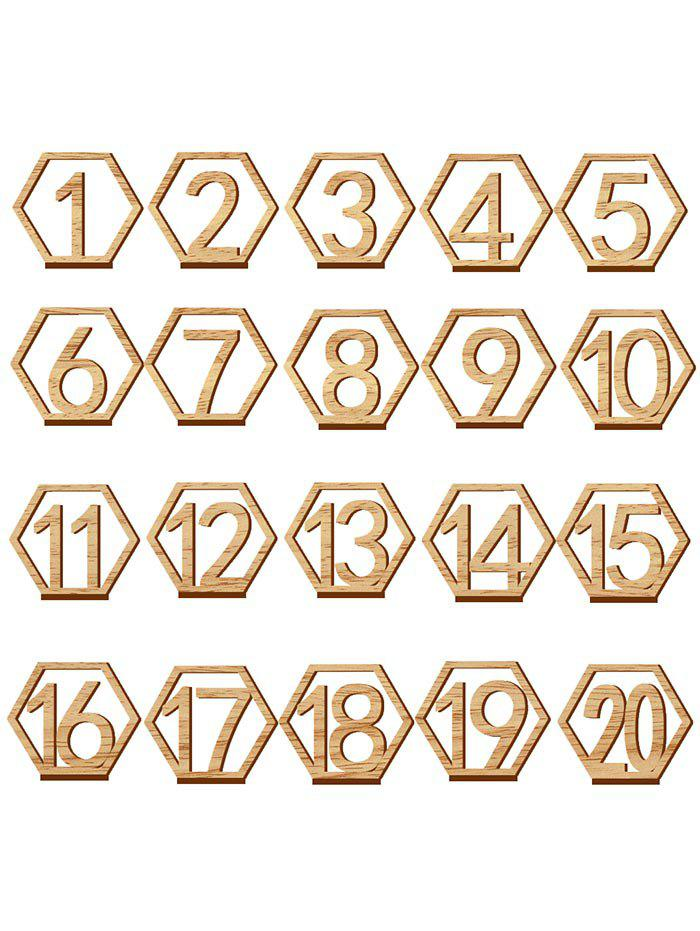 Shop Number Sign Wooden Wedding Decor Set