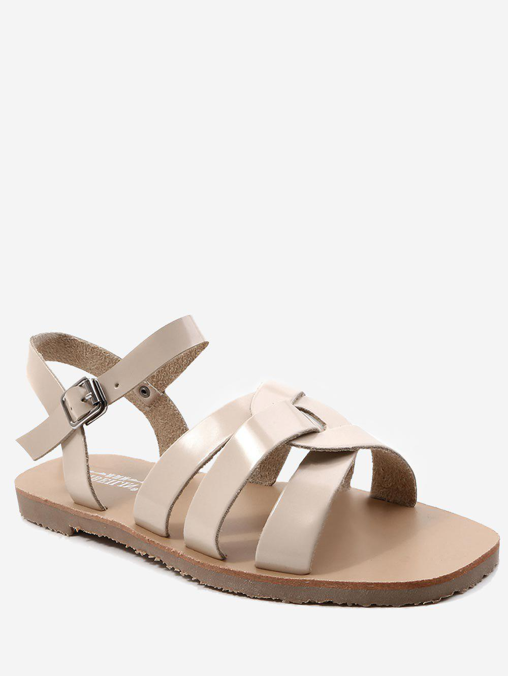 Cheap Ankle Strap Casual Flat Heel Sandals