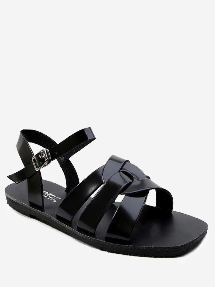 Fashion Ankle Strap Casual Flat Heel Sandals