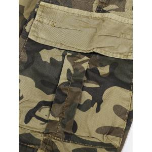 Flap Pocket Camo Print Cargo Shorts -