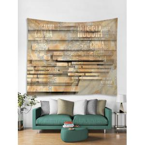 3D World Map Stone Wall Print Wall Hanging Tapestry -