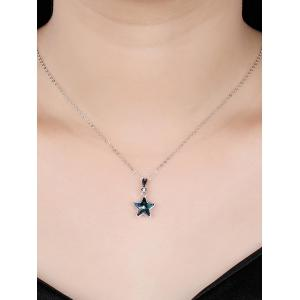 Crystal Star Decorative Wedding Pendant Necklace -