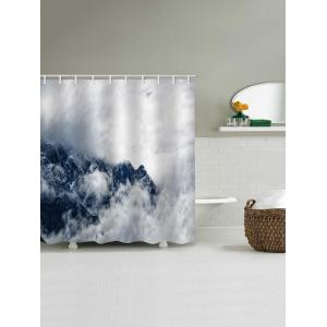 Ridges in the Cloud Print Bath Shower Curtain -