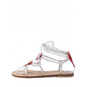 Rope Wrapped Heart Detail Sandals -