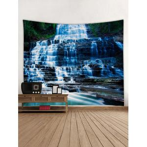Mountain Stone Waterfall Print Wall Hanging Tapestry -