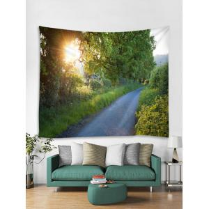 Wall Hanging Art Sunlight Forest Path Print Tapestry -