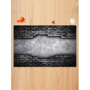 Bricks Wall Printed Antiskid Area Mat -
