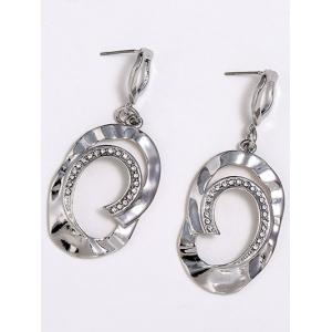 Boucles d'oreilles en diamant artificiel Dangle Hoop -