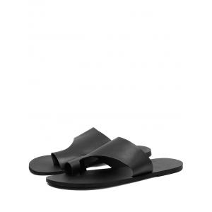 Flat Heel Chic Thong Slide Sandals -