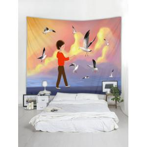 Seagull Inbetweening Tapestry Wall Hanging Decor -