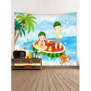 Summer Profusion Printed Tapestry Wall Hanging Decoration -