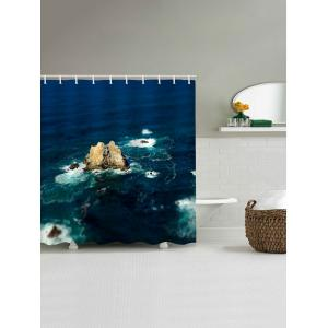 Waterproof Stone in the Seaside Printed Bath Curtain -