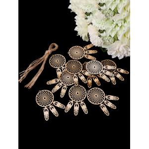 10PCS Bois Dream Catcher Signe Décorations pour La Maison -