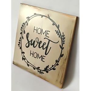 Wood Engraved Sweet Home Sign Home Decor -
