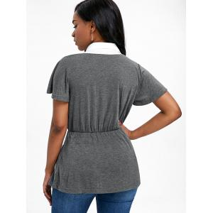 Short Sleeve Faux Twinset T-shirt -