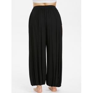 Plus Size Ripped Open Harem Pants -