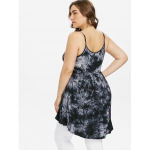 Plus Size Empire Waist Tie Dye Tank Top -