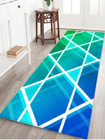 Latest Geometric Rhombus Print Floor Mat Runner Rugs