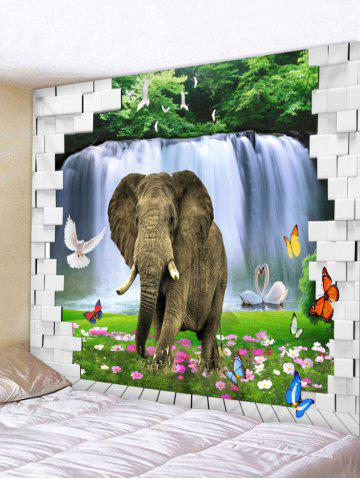 Online Elephant Print Wall Hanging Tapestry