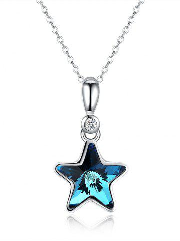 Online Crystal Star Decorative Wedding Pendant Necklace