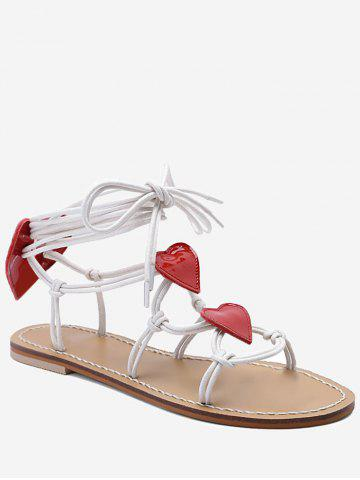 Discount Rope Wrapped Heart Detail Sandals