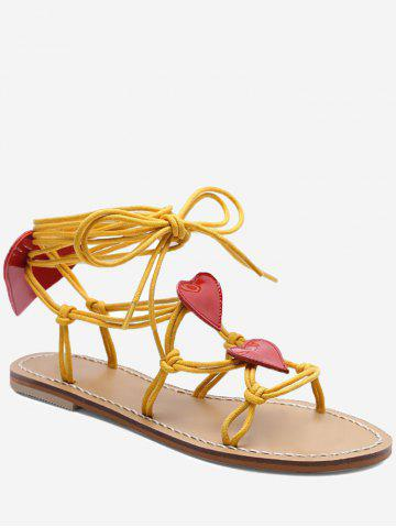 Hot Rope Wrapped Heart Detail Sandals