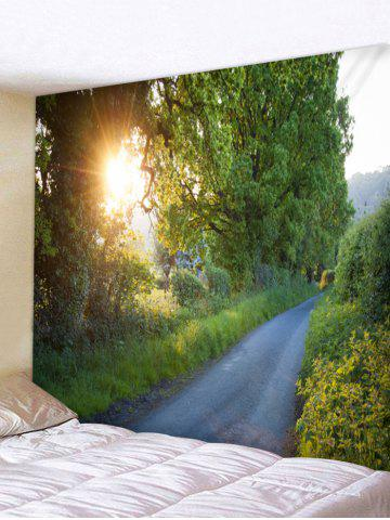 Cheap Wall Hanging Art Sunlight Forest Path Print Tapestry