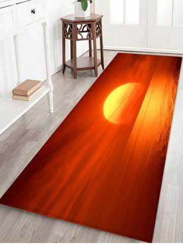 Online Sunrise Sea Print Antiskid Floor Rug