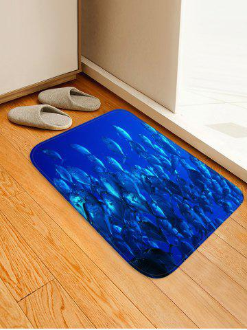 Fashion Deep-sea Fish Print Floor Runner Rugs Doormat