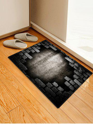 Fancy Broken Bricks Wall Printed Antiskid Area Mat
