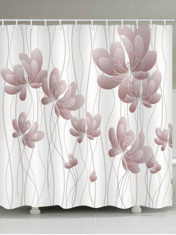 Cheap Butterfly Flowers Print Waterproof Bathroom Shower Curtain