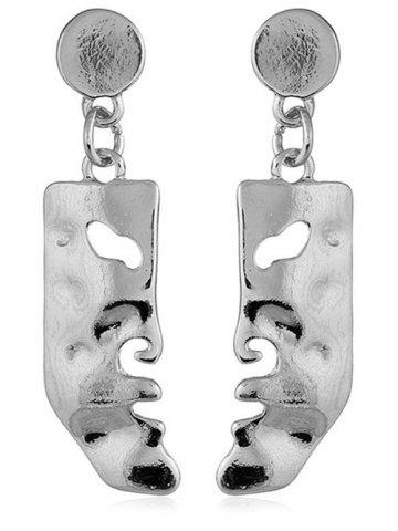Outfit Face Shaped Solid Pendant Earrings