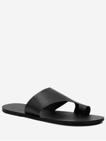 Unique Flat Heel Chic Thong Slide Sandals