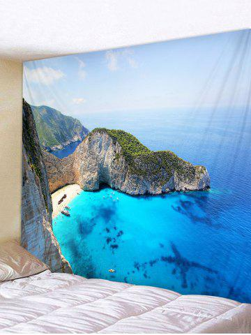 Sale Mountain Top Sea Printed Tapestry Wall Hanging Decoration