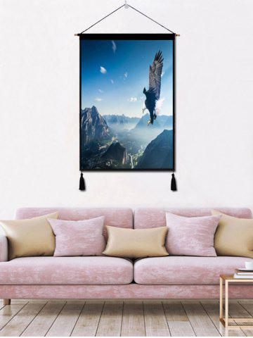 Store Sky Flying Eagle Print Wall Tassel Hanging Painting