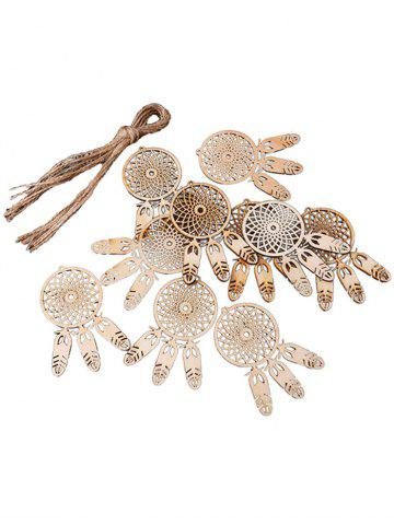 10PCS Bois Dream Catcher Signe Décorations pour La Maison