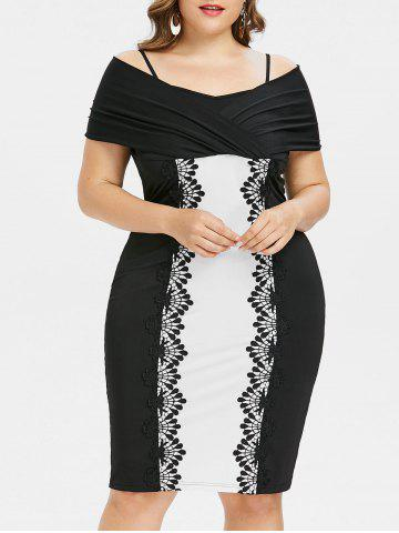 Hot Plus Size Shoulder Baring Knee Length Fitted Dress
