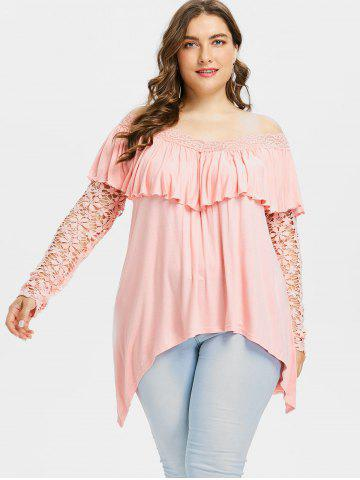 642fbf64734ba4 Plus Size Off Shoulder Top - Free Shipping