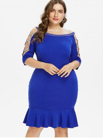 Plus Size Mermaid Dress Black Lace And Maxi Cheap With Free Shipping