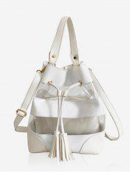 2 Pieces Tassel String Crossbody Bag -