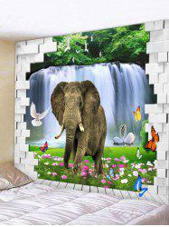 Elephant Print Wall Hanging Tapestry -