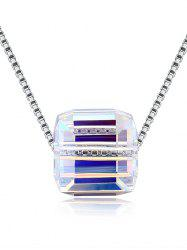 Vintage Square Crystal Shimmer Party Wedding Necklace -