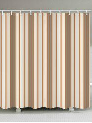 Vertical Stripe Waterproof Shower Curtain -